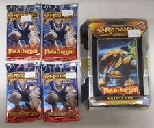 REDAKAI METACHARGED KAIRU TIN + 4 Metacharged Booster Packs - Lot F - NIP