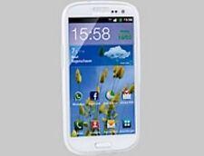 SILIKON-SCHUTZHÜLLE für Samsung Galaxy S3, weiß/transparent - NEU & SOFORT