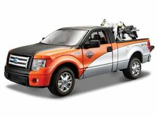 Harley Davidson, Ford F-150 STX Pick-Up + 2000 FLSTF Fat Boy, Maisto 1:27