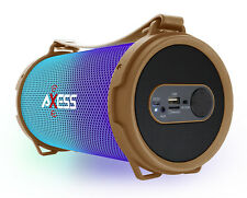 Axess Bluetooth Disco LED Lights 1.0Ch Rechargeable Speaker (Gold) SPBL1045GD