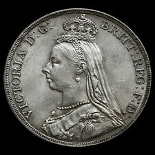 1890 Queen Victoria Jubilee Head Crown – Near EF