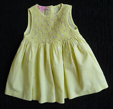 Baby clothes GIRL 12-18m Orchestra French designer yellow smocked dress