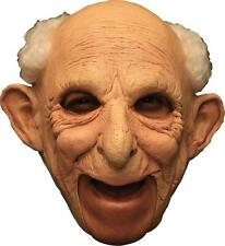 ADULT GUS OLD MAN GRANDPA CHINLESS FULL LATEX MASK WITH HAIR COSTUME TB27540