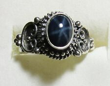 Star Sapphire Ring in 925 Sterling Silver sz 6