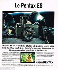 PUBLICITE ADVERTISING 055  1973  ASAHI PENTAX  appareil photo ES 2