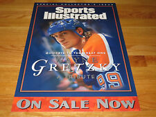 WAYNE GRETZKY No. 99 EDMONTON OILERS PROMO Sports Illustrated Display Poster