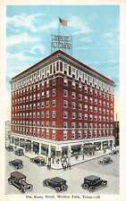 Wichita Falls Texas Kemp Hotel Street Scene Antique Postcard K10104