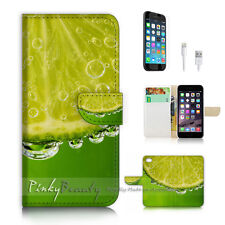 iPhone 7 (4.7') Flip Wallet Case Cover P2663 Lime