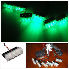18 Green LED Super Bright Emergency Hazard Warning Signal Strobe Grille Lights
