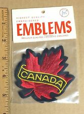 NIP Vintage Canada Canadian Maple Leaf Red Souvenir Embroidered Patch Badge