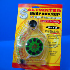 saltwater Hydrometer & Digital Thermometer aquarium NEW