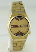 """GOLD PLATED VINTAGE CITIZEN DAY DATE AUTOMATIC WATCH 6 1/4"""""""