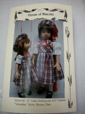 "Sisters #4 Effner Little Darling and 10.5"" Boneka Pattern Skirts, Blouses, Hats"