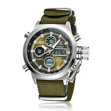 Military Type OHSEN Analog Digital Dual Timezone Chronograph Wrist Watch