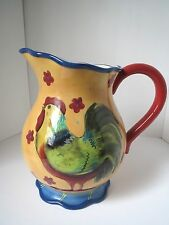 Certified International Susan Winget Rooster Large Pitcher Excellent Condition