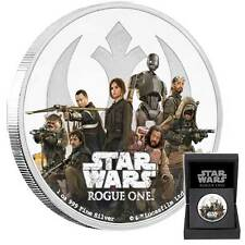 2017 STAR WARS CLASSIC: ROGUE ONE REBELLION 1oz PROOF FINE SILVER COIN