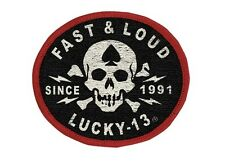 Lucky 13 The Fast & Loud Biker Motorcycle Skeleton Skull Patch LAPA150FA