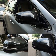 A Pair Carbon Fiber Side Mirror Cover Cap Trim For Toyota Highlander 2015 2016