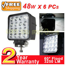 6x48watt LED work light headlight truck excavator ATV tractor boat Lumière Carré