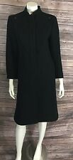 Britanny Originals Vintage Wool  Black Womens Small 80s Dress Coat Solid C