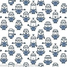 QUILTING TREASURES Fabric ~ DESPICABLE ME - 1 IN A MINION ~ (23992 Z) by 1/2 yd