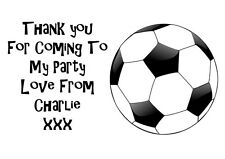 Personalised Kids Football  Birthday Party Thank You Stickers - Pack Of 24