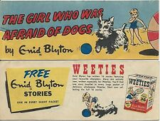 WEETIES AUSTRALIA CEREAL GIVEAWAY PROMO ENID BLYTON GIRL WHO WAS AFRAID OF DOGS