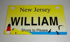 New Jersey Bicycle WILLIAM Bike License Plate NEW!