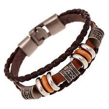 Bracelet Pour Hommes Tressé Cuir Authentique Cuir Bracelet Look Jeune