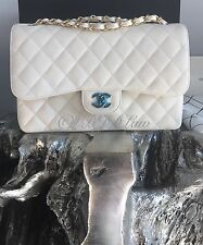 NWT CHANEL CAVIAR JUMBO FLAP *RARE SOLDOUT* WHITE IVORY 2016 2017 GOLD HARDWARE