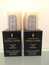 "2  Luminara Flameless Candle Ivory 3.5"" x 5"" Free Remote"