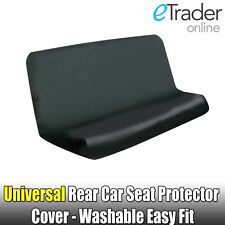 BLACK WATER RESISTANT REAR CAR SEAT COVER BACK SEAT PET HAIR PROTECTOR UNIVERSAL