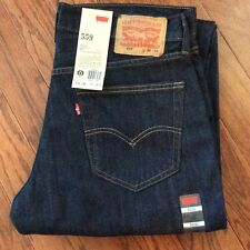 Levi's Men's Jeans New 559 34X34 Dark Blue Relaxed Fit Straight Leg MidRise 4010