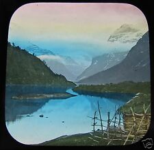 Glass Magic lantern slide NORWAY NORDFJORD VIEW OP THE LOEN-VAND C1890 L77