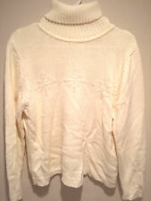 Vintage Retro Ugly Christmas Sweater Tacky - Large White Snowflakes Jumper!