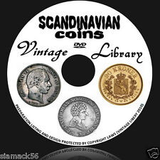 Denmark Norway Sweden Coins 96 Books on DVD silver 2 5 10 50 ore kronor kroner