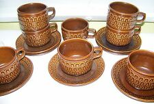 WEDGWOOD PENNINE (Brown) Oven to Table Coffee Tea Cup & Saucer Made in  England