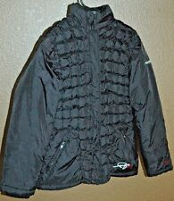 FUBU The Collection Women's Black Quilted Down Puffer Coat Jacket Medium 10-12