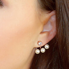 Kristin Perry Floating Pearl Ear Jacket Earrings Ear Cuff