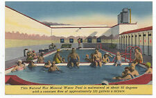 1940s Advertising Postcard of People in Mineral Pool at Desert Hot Springs CA