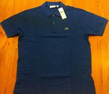Mens Authentic Lacoste Classic Pique Polo Shirt Delta Blue 7 2XL $89