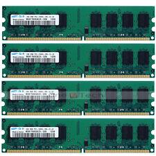 Samsung 8GB DDR2 4x2GB DDR2 PC2-5300 PC-5300U 667Mhz 240pin DIMM Desktop Memory