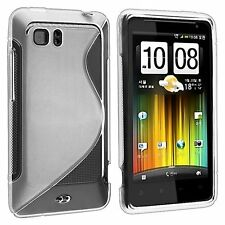 Flexible TPU Gel Case for HTC Vivid - Clear