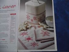 SIMPLE CHRISTMAS SNOWFLAKE DESIGNS FOR PLACEMAT/NAPKIN/BAND CROSS STITCH CHART