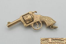 RARE VINTAGE HM 9ct SOLID GOLD 3D WESTERN SIX SHOOTER CHARM 6.6  g