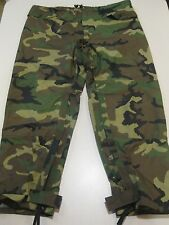 US Military Army Orc Woodland BDU Camouflage Goretex Rain Pants Trouser L Large