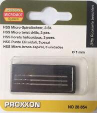 Proxxon 3 stück micro spiralbohrer 1.0mm 28854 / Direkt vom RDGTools