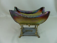 Fine Antique Rindskopf Pepita Bohemian Art Glass Centerpiece Bowl Loetz Era