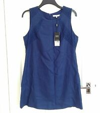 BNWT Next Tailored Royal Blue Linen Dress, size 14 Original Price £35 NWT
