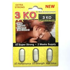 1x 3KO B Male Sexual Libido Enhancer Natural Herbal Extract 3 Caps-Pack F11